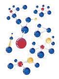 Moleculaire structuren Stock Afbeelding