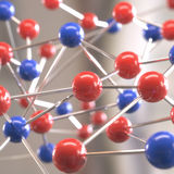Moleculaire structuur Royalty-vrije Stock Foto