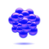Moleculaire structuur Stock Afbeelding