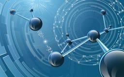 Moleculaire structuur op futuristische achtergrond Royalty-vrije Illustratie
