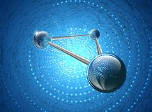 Moleculaire structuur op gloeiende achtergrond Vector Illustratie