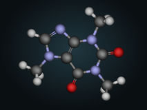 Moleculaire structuur van cafeïne royalty-vrije illustratie