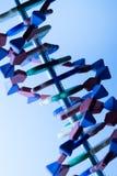 Molecular, ADN e átomo modele no laboratório de pesquisa da ciência imagem de stock royalty free