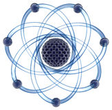 Molecular atom on a white background Stock Images