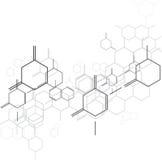 Molecular background. Black gray and white colour Stock Photo