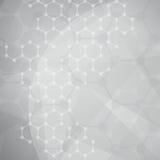 Molecular Background Royalty Free Stock Photos