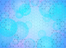 Molecular background Royalty Free Stock Photo