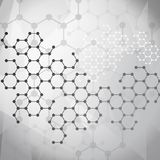 Molecular background Royalty Free Stock Images