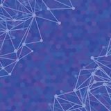 Molecular background Stock Image