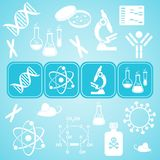 Molecular biology science card Royalty Free Stock Photos