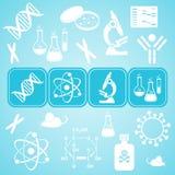 Molecular biology science card Royalty Free Stock Photos