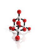 Molecular crystal lattice Royalty Free Stock Image