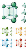 Molecular cube Stock Photos