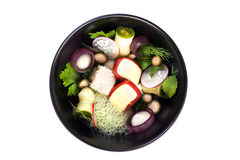 Molecular cuisine vegetable salad Royalty Free Stock Photo
