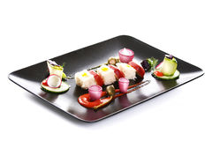 Molecular cuisine vegetable salad Royalty Free Stock Images