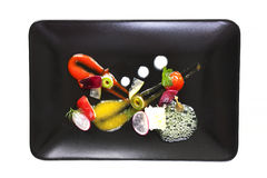 Molecular cuisine vegetable salad Royalty Free Stock Photography