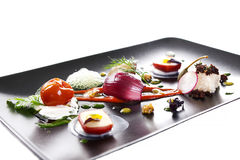 Molecular cuisine vegetable salad Royalty Free Stock Image