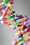 Molecular, DNA and atom model in science research lab. Taken in studio stock photos