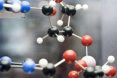 Molecular, DNA and atom model in science research lab Royalty Free Stock Photography