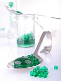 Molecular food. Laboratory with spoon of molecular food Royalty Free Stock Images
