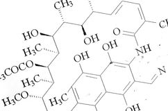 Molecular formula Stock Photo