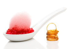 Molecular gastronomy dessert Royalty Free Stock Photography