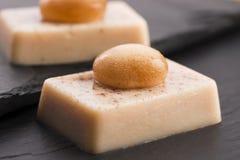 Molecular gastronomy - dessert Stock Photos