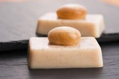Molecular gastronomy - dessert Stock Photography