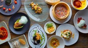 Molecular gastronomy recipes Modern cuisine. Molecular gastronomy variety of recipes Modern cuisine Royalty Free Stock Image