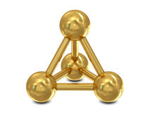 Molecular golden structure Royalty Free Stock Photo