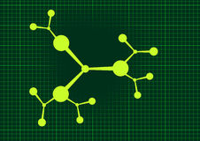 Molecular green background Royalty Free Stock Photography
