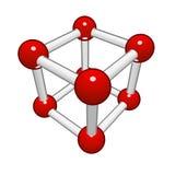 Molecular grid of a geometrical figure Stock Image
