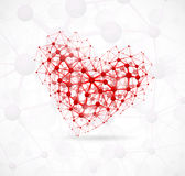 Molecular heart. Image of the heart, consisting of molecular structure. Eps 10 Stock Images