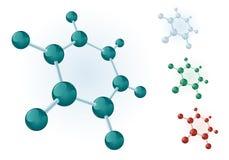 Molecular hexagon royalty free stock photos