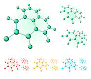 Molecular hexagons Stock Photos