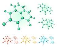Molecular hexagons stock photos
