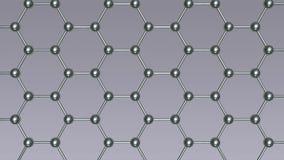 Molecular lattice animation stock video footage
