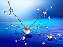 Molecular lattice on art background stock illustration