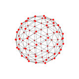Molecular lattice in the form of a sphere. Vector illustration. Stock Images
