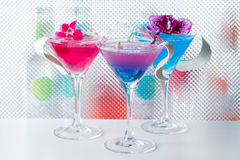 Molecular mixology - Cocktail with caviar Royalty Free Stock Images