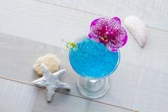 Molecular mixology - Cocktail with caviar Royalty Free Stock Photography
