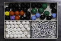 Molecular Model Chemistry And Physics Science Kit Stock Images