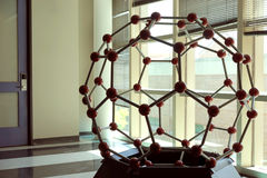 Molecular model - fullerene Royalty Free Stock Images