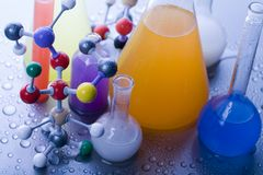 Molecular Model - Laboratory Stock Photo