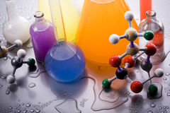 Molecular Model - Laboratory Royalty Free Stock Photo
