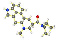 Molecular model of lsd Stock Image
