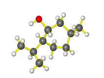 Molecular model of menthol Stock Photos