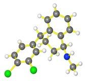 Molecular model of sertraline Stock Photos