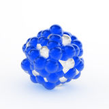 Molecular Model, Sphere. Isolated 3d molecular model, over white, horizontal Stock Image