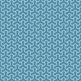 Molecular pattern. Blue Neutral geometric seamless patterns Stock Photos